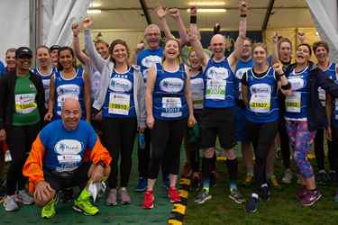 A group of Mind runners celebrating