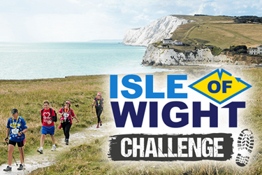 A group hiking the Isle of Wight challenge