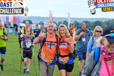 Couple looking happy during Ultra Challenge
