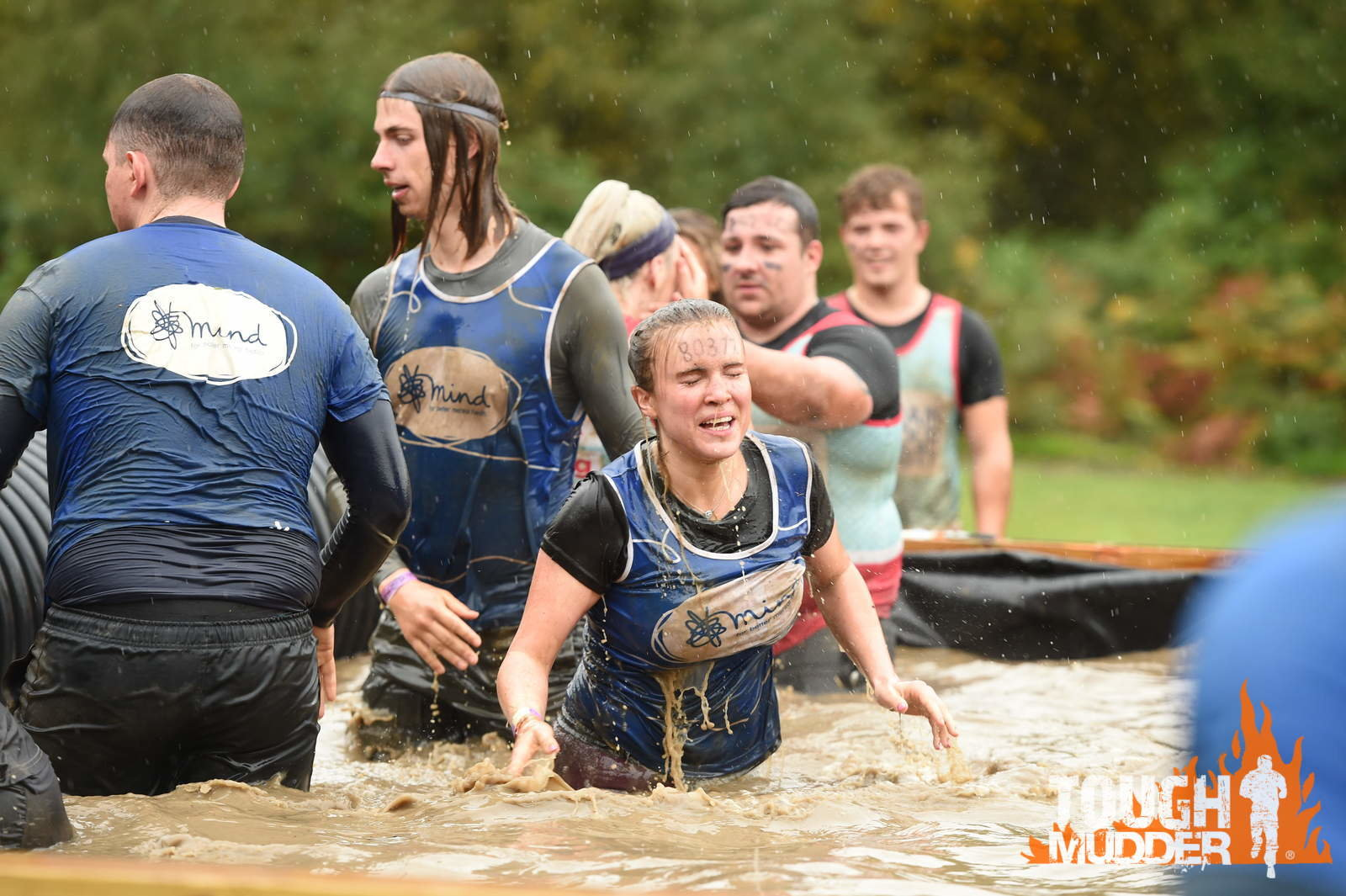 a Mind Team mid race in muddy water