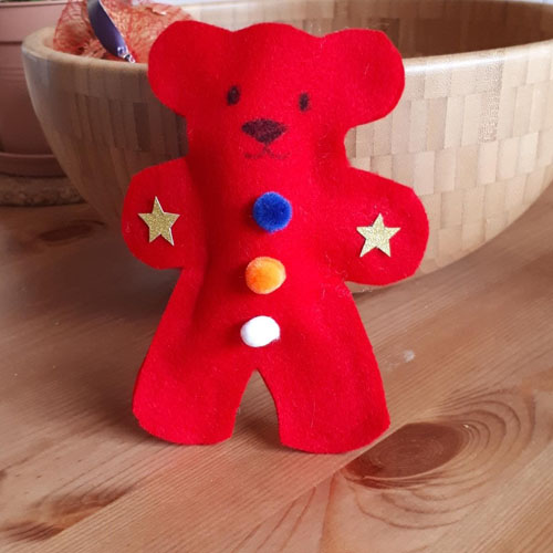 Felt bear for little hands to try