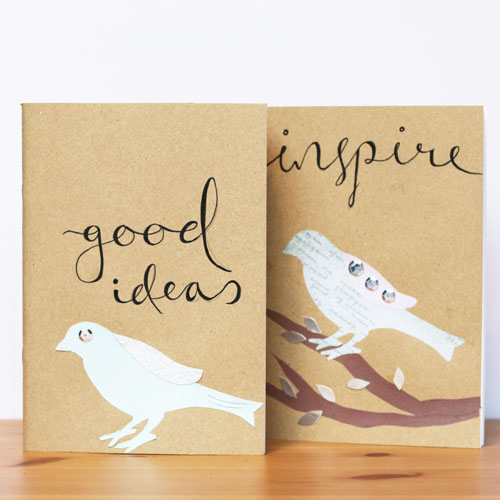 Decorative paper bird journal