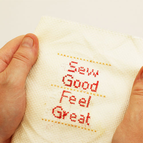 Cross stitch words