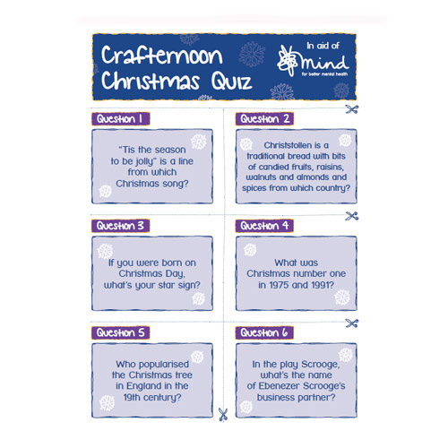 Christmas quiz downloadable activity sheet