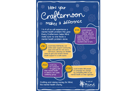 How you crafternoon makes a difference poster close-up