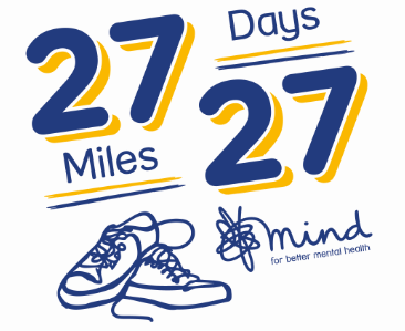 logo for 27 27 with running shoes and Mind logo