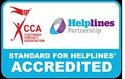 Helplines accredited logo
