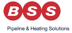 BSS logo, pipeline and heating solutions