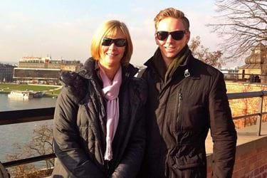 Mum Tracey, with her son Robert who took his own life